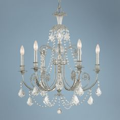 Crystorama Regis Collection Old Silver 26 Wide Chandelier - 30 high lamps plus