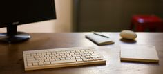 Wooden keyboard and trackpad