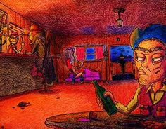 """Check out new work on my @Behance portfolio: """"A cozy place for cowboys"""" http://be.net/gallery/44595603/A-cozy-place-for-cowboys"""