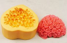 Heart Rosette Soap Mould RO461