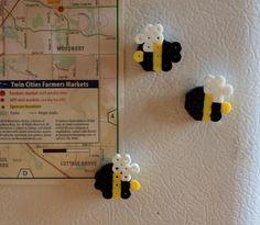 Bumble Bee Perler Bead Magnet. $3.00, via Etsy.