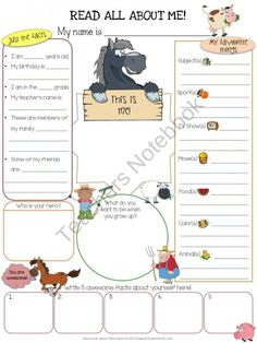 Farm All About Me Poster {Dollar Deals} All About Me Printable, All About Me Worksheet, Art Classroom, Classroom Themes, All About Me Poster, Last Day Of School, School Stuff, School Themes, School Ideas