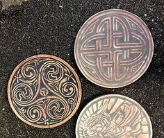 Two Molds One 15 Dia Celtic Knot and Celtic Spiral Stepping Stone Molds | eBay