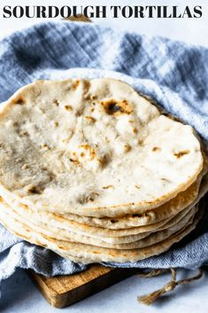 These Sourdough Tortillas are made with leftover sourdough starter. They are soft and delicious, the best tortillas you'll ever have! Sourdough Recipes, Sourdough Bread, Bread Recipes, Baking Recipes, Starter Recipes, Sourdough Tortillas Recipe, Homemade Tortillas, Freezer Recipes, Flour Tortillas