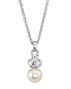8085mm Japanese White Akoya Cultured Pearl Adrian Pendant Necklace >>> You can find more details by visiting the image link.(This is an Amazon affiliate link and I receive a commission for the sales) #Necklaces