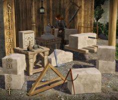 The Medieval Smithy SIMS 2: The Stonemason Set