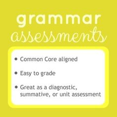 This is a pack of Common Core aligned grammar assessments and a student tracker. The assessments are easy to grade, and answer keys are included. These tests are great for diagnostics, summatives, unit tests, or even quizzes.