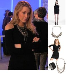 On Serena: Acne FORCE Cut Out Dress, Gemma Redux Necklace.