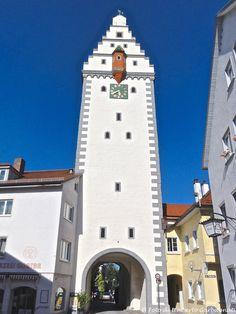 ... orologio meccanico su porta a torre di città - Bad Waldsee (D) - 26 giu 2011 - © Umberto Garbagnati -