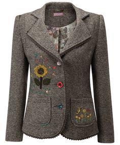 LJ197 - Tweedy Jacket  - Tweedy Jacket, Women's Coats and Jackets, Women's Clothing, Home, Clothing, Accessories, Joe Browns