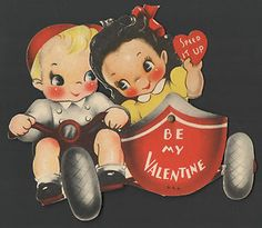 Vintage Valentines Day Card Mechanical Motor Cycle w Side Cart 1942 | eBay