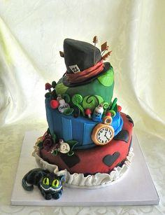 Alice in Wonderland Cake by Wild Orchid Baking Co., ...