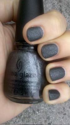 """Stone Cold"" (District 4 - Masonry) Capital Colours nail polish from China Glaze's Hunger Games Collection. Amazing look!"