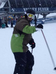 First day of skiing