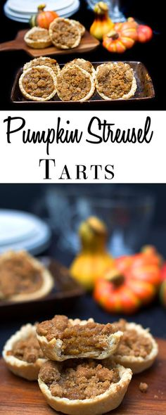 You'll love the crust and bite of sugar in these Pumpkin Pie Streusel Tarts. Forget apple pie, this recipe is the perfect autumn dessert. With buttery pastry, a spiced pumpkin filling, and cinnamon streusel topping – this dish will become a new holiday favorite!