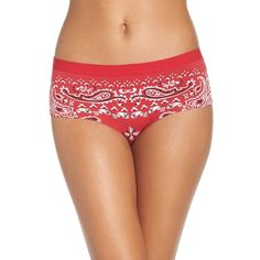 Women's Naja Lingerie Stretch Cotton Briefs ($22) ❤ liked on Polyvore featuring intimates, panties and red bandana