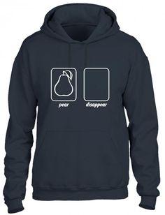 pear disappear funny geek Hoodie