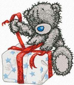 Teddy Bear Christmas coming soon machine embroidery design. Machine embroidery design. www.embroideres.com
