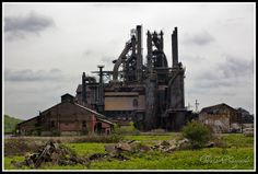 Hazy Shade of Grey Bethlehem Steel, Steel File, Industrial Machinery, Drilling Rig, Industrial Architecture, Mining Equipment, Industrial Photography, Lehigh Valley, Fishing Villages