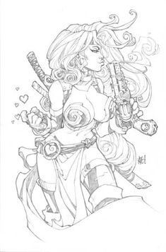 Red Monika by Joe Madureira Comic Book Artists, Comic Artist, Comic Books Art, Joe Madureira, Fantasy Kunst, Fantasy Art, Cool Drawings, Drawing Sketches, Drawing Faces