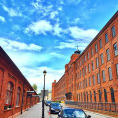 Lodz, Poland #lodz #poland #factory #industry #lofts #street #sky #architecture