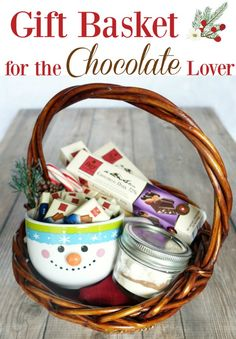 DIY Christmas gift idea for the chocolate lover on your list! Gourmet chocolate from @ChocolateFreyNA plus homemade hot cocoa mix recipe and adorable snowman mug. #FreyHoliday #ChocolatFrey ad