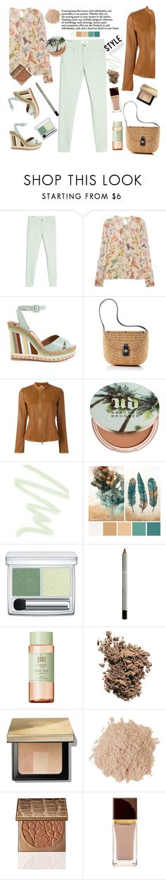 """Minty nude ."" by gul07 ❤ liked on Polyvore featuring MANGO, RED Valentino, Mark & Graham, DESA 1972, Urban Decay, Dolce&Gabbana, RMK, Pixi, Bobbi Brown Cosmetics and Eve Lom"