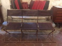 Mid-Century Italian Three-Seater Bench
