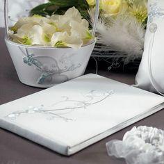 Love Bird in Classic White Guest Book - #centerofattention #wedding #guestbooks