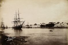 Old Picture of Pernambuco (Brazil) by Marc Ferrez in the 19th century