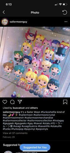 Funko Pop Display, Sailor Moon Merchandise, Sailor Moon Crystal, Shelfie, Pop Vinyl, Otaku, Geek Stuff, Geek Things