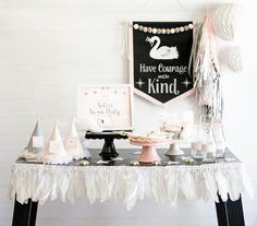 Stunning Sweet Swan Birthday Party by Fawn Parties