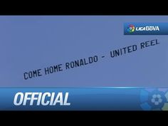 "Lightplane showing the message: ""Come home Ronaldo, United reel"""