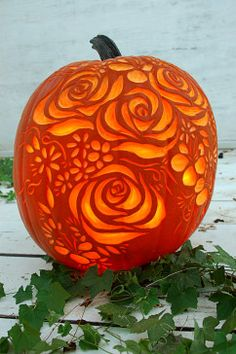 Let these beautifully carved pumpkins inspire you to take fall decorating to a whole new level.