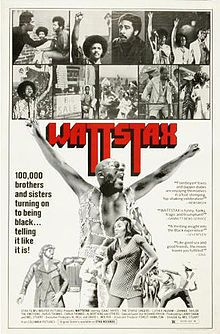 Wattstax is a 1973 documentary film by Mel Stuart that focused on the 1972 Wattstax music festival and the African American community of Watts in Los Angeles, California. Watts Riots, Johnnie Taylor, Woodstock Concert, The Staple Singers, Albert King, Richard Pryor, Museum Poster, Luther Vandross, Old School Music