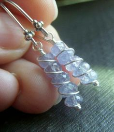 rough cut stone beads would be a good application for this set of DIY Earrings