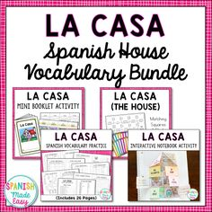 This bundle includes a variety of vocabulary activities, puzzles, and practices to help your students learn vocabulary related to the house in Spanish. Teaching Vocabulary, Vocabulary Practice, Spanish Vocabulary, Vocabulary Activities, Teaching Spanish, Spanish Games, Spanish Activities, Spanish Basics, Spanish Lessons