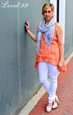 Our white Liza Mid-Rise look amazing in this outfit styled by Feral! Get #OnTheLevel: