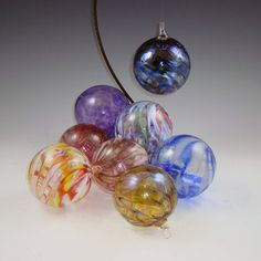 NW HandBlown Glass Holiday/Christmas Ornaments by DBRGlassworks, $232.00