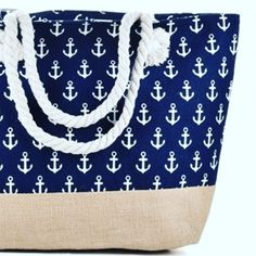 Life is good in Navy ⚓️ Grab this large navy anchor bag, your new 'must have' accessory 👜 (Free Shipping) 🚢 👈🏻 see what we did there. Anchor Canvas, Wrap Around Bikini, Arm Bracelets, Navy Anchor, Floral Bikini, Beach Jewelry, Free Shipping, Swimwear, Bags