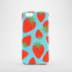 Strawberries phone case / Bright glossy case / by PardonMyTone