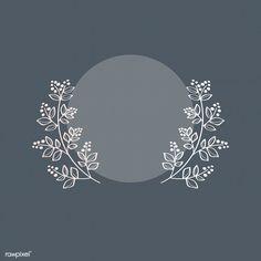Blue botanical laurel wreath vector | premium image by rawpixel.com / wan #vector #vectoart #digitalpainting #digitalartist #garphicdesign #sketch #digitaldrawing #doodle #illustrator #digitalillustration #modernart #frame Floral Banners, Floral Logo, Badge Design, Logo Design, Jagua Henna, Wreath Drawing, Framed Wallpaper, Snapchat Stickers, Laurel Wreath