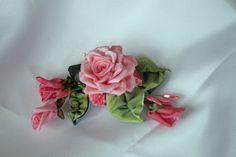 Pink Rose Ribbonwork