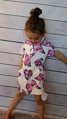 Sukienka różowy motyl Voga-dziewczynka