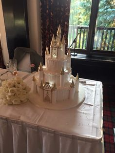 Cinderellas castle wedding cake                                                                                                                                                                                 More