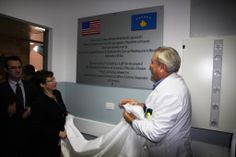 Christmas Eve 2013, Ambassador Tracey Jacobson inaugurates a $1.15 million renovation project at the Surgical and Infectious Disease Clinics at the University Clinical Center of Kosovo (UCCK). The renovation was funded through the U.S. European Command Humanitarian Assistance Program and implemented by the U.S. Embassy's Office of Defense Cooperation.