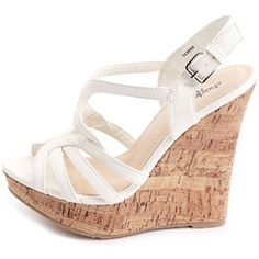 X-Front Slingback Wedge Sandal $33 Charlotte Russe. Love these for the summer!