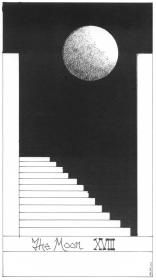 the moon - love the black to white graphics of this card