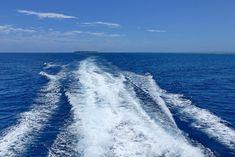 Good bye Heron Island... Immer kleiner wird die Insel am Horizont. Great Barrier Reef, Island, Heron, Waves, Outdoor, Pictures, Snorkeling, Travel Report, Travel