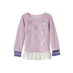 Design 365 Girls 4-6x Mock-Layer Lace Tunic, Girl's, Size: 5, Pink
